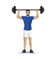 training barbel man vector image