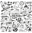 travel - doodles set vector image