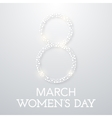 Trendy Design Template Womens day vector image vector image