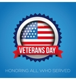 veterans day badge vector image vector image