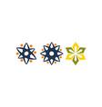 wealth management sun flower set vector image vector image