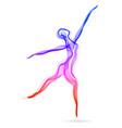 woman dancer ballerina elegant silhouette vector image vector image