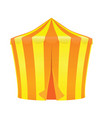 yellow and orange circus tent vector image