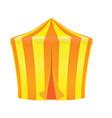 yellow and orange circus tent vector image