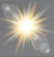 sunlight on transparent background lens flare vector image