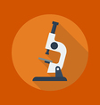 Education Flat Icon Microscope vector image
