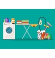 Poster design for cleaning service and supplies vector image