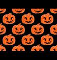 halloween pattern seamless with pumpkins festive vector image