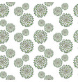 abstract pattern with hand drawn green vector image vector image