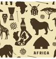 Africa icons set pattern vector image vector image