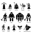 ancient medieval fantasy evil characters vector image