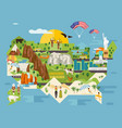 attractions infographics about america vector image