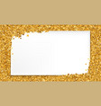 background with gold glitter and place for text vector image vector image