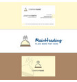 beautiful dish logo and business card vertical vector image vector image