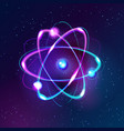 blue shining atom abstract technology dark vector image vector image
