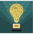 Business doodles in yellow bulb vector image vector image