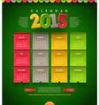 Calendar of 2015 vector image