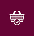 cart icon online shopping simple vector image vector image