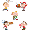 Cartoon pizza boy vector image vector image