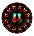 chinese zodiac horoscope wheel dragon vector image