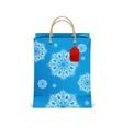 Christmas shopping bag with snowflakes vector image