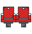 cinema chairs isolated icon vector image vector image