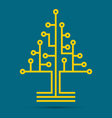 circuit board pattern in shape tree vector image