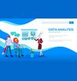 colleagues do marketing research data analysis vector image