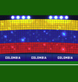 colombia soccer or football stadium background vector image vector image