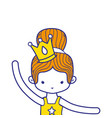 colorful girl practice ballet with bun hair and vector image vector image