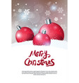 creative holiday poster merry christmas greeting vector image vector image