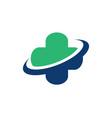 cross medicine solutions logo designs simple vector image