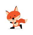 cute fox cartoon concept vector image vector image