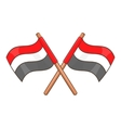 Egypt flags icon cartoon style vector image vector image