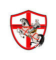 English Knight Rider Horse England Flag Retro vector image vector image