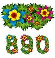 flowers alphabet 12 vector image vector image