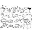 Food doodles vector image