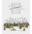 Forest style flat vector image