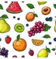 fruit and berries seamless pattern orange vector image vector image