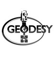 geodesy symbol with tool vector image