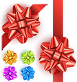 Gift bow set vector image vector image