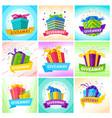 giveaway social media posts creative design vector image vector image