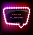 glowing neon frame vector image vector image