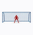 goalkeeper actionprepare catches the ball vector image vector image