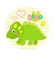 Green dinosaur vector image vector image