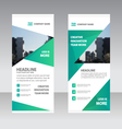 Green triangle Business Roll Up Banner templates vector image vector image