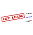 grunge for lease scratched rectangle stamp seals vector image vector image