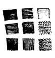 hand drawn brush stroke ink sketch line vector image