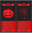 happy halloween bloody on vector image vector image