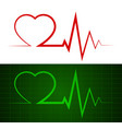 heart beat ekg vector image